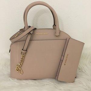 Michael kors large Emmy satchel Bag & Wallet set